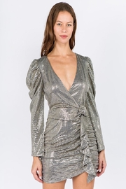 Signature 8 Gold Metallic Dress - Product Mini Image