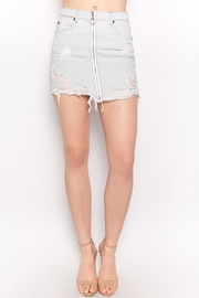 Signature 8 Light Denim Skirt - Product Mini Image