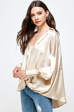 Shoptiques Product: Oversize Satin Shirt