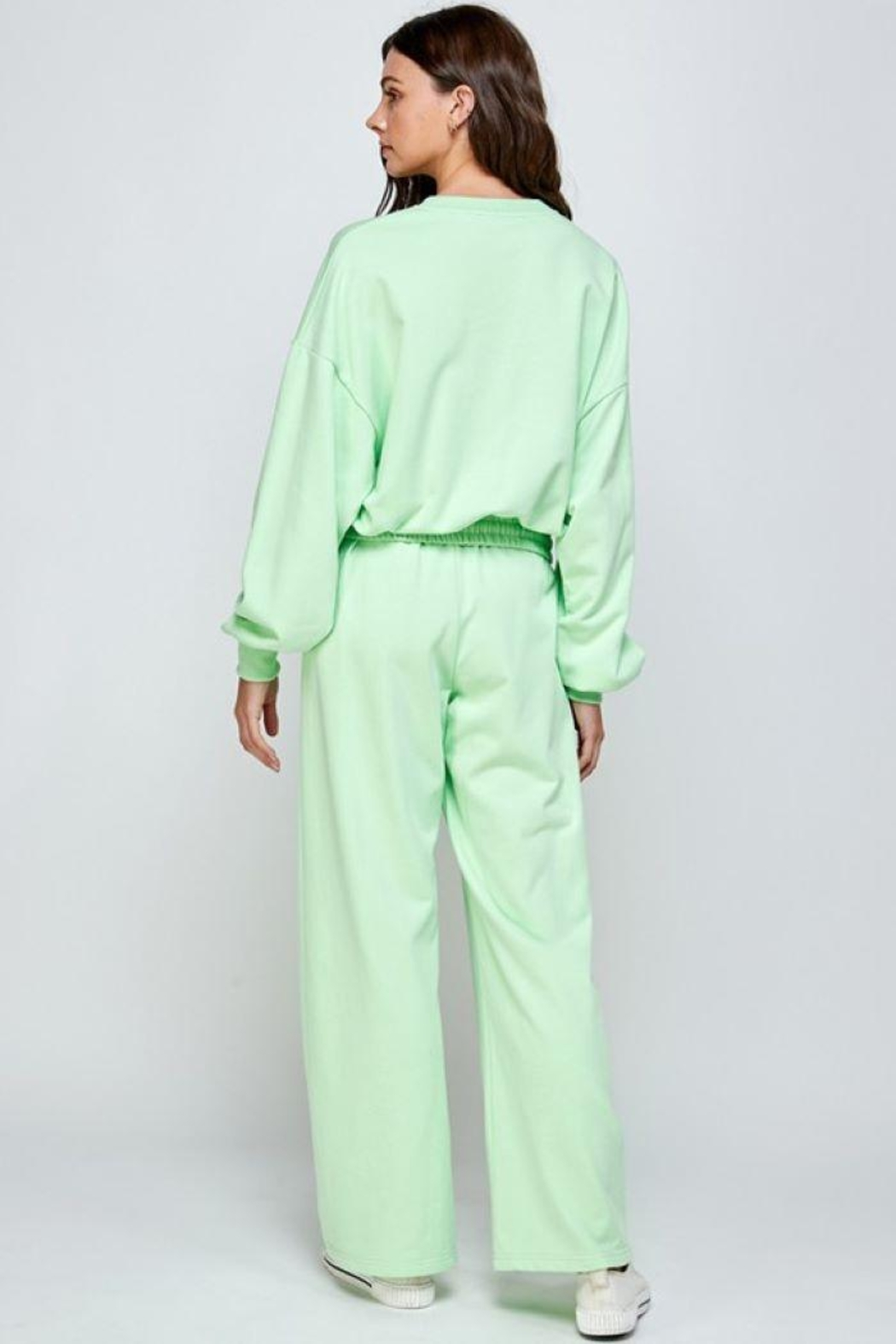 Signature 8 Oversized Loungewear Terry Top - Front Full Image