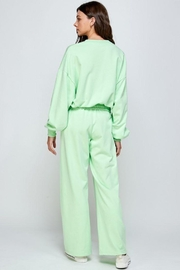 Signature 8 Oversized Loungewear Terry Top - Front full body