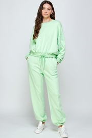 Signature 8 Oversized Loungewear Terry Top - Front cropped