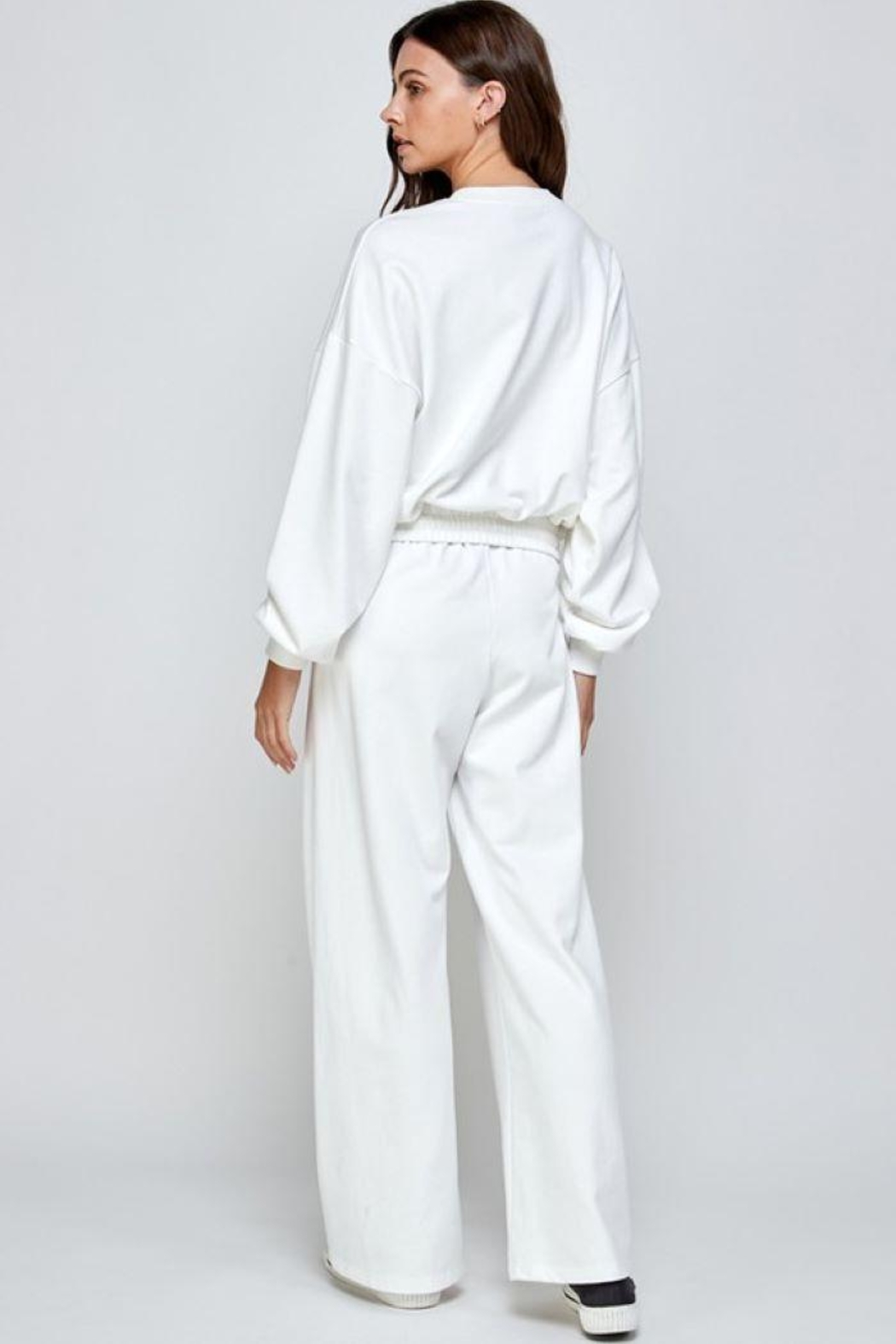 Signature 8 Oversized Loungewear Terry Top - Side Cropped Image