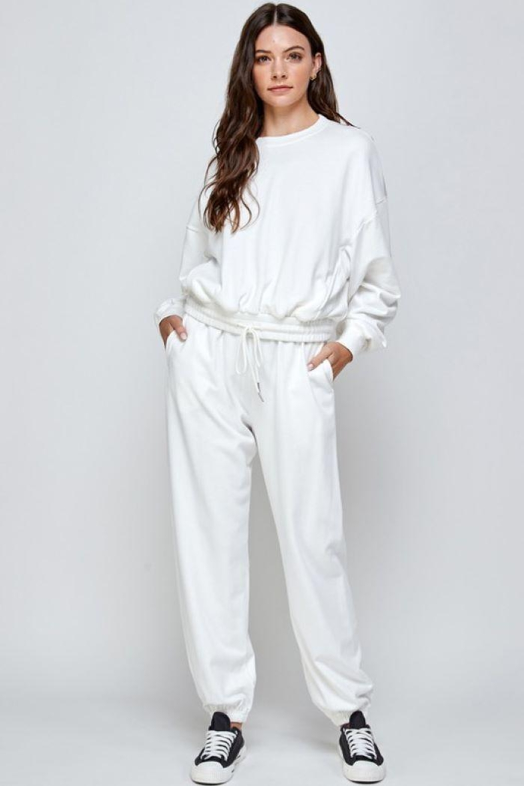 Signature 8 Oversized Loungewear Terry Top - Front Cropped Image