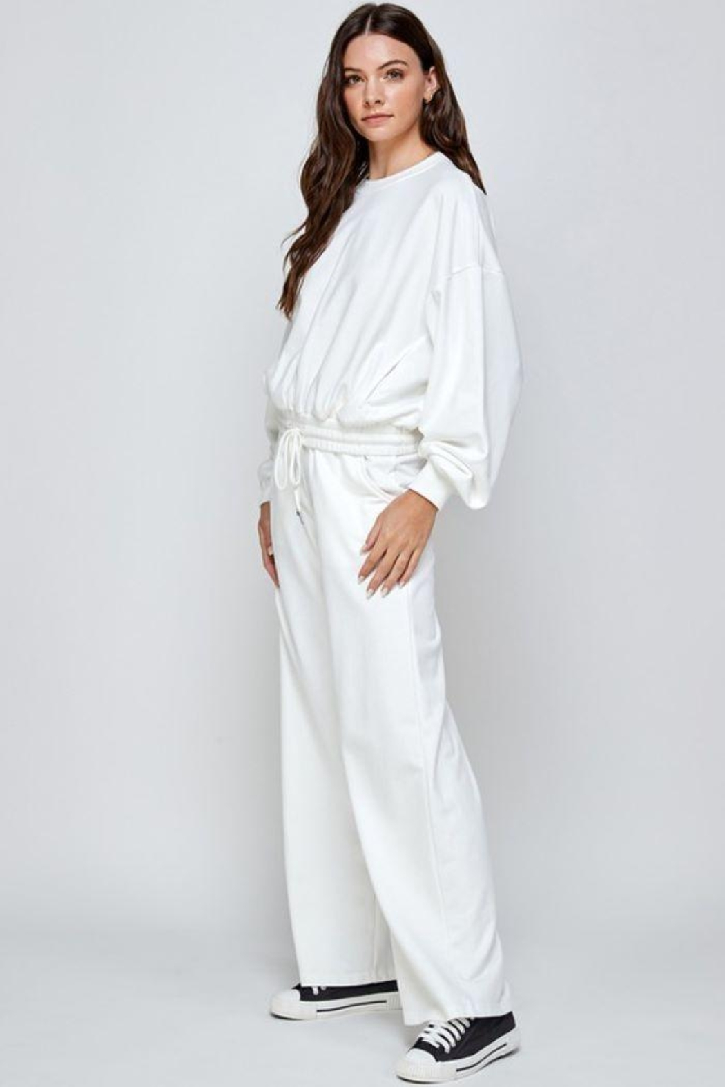 Signature 8 Oversized Loungewear Terry Top - Back Cropped Image
