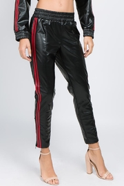 Signature 8 Faux Leather Jogger - Front cropped