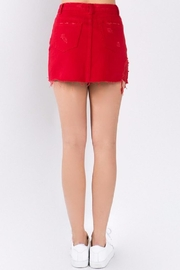 Signature 8 Red Denim Skirt - Side cropped