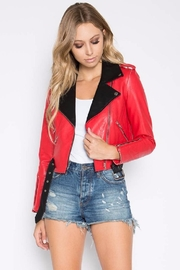 Signature 8 Red Moto Jacket - Product Mini Image