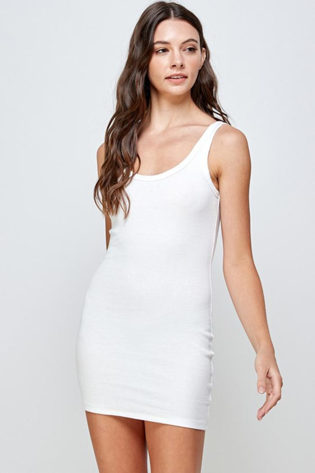 Signature 8 Ribbed Tank Dress - Front Cropped Image