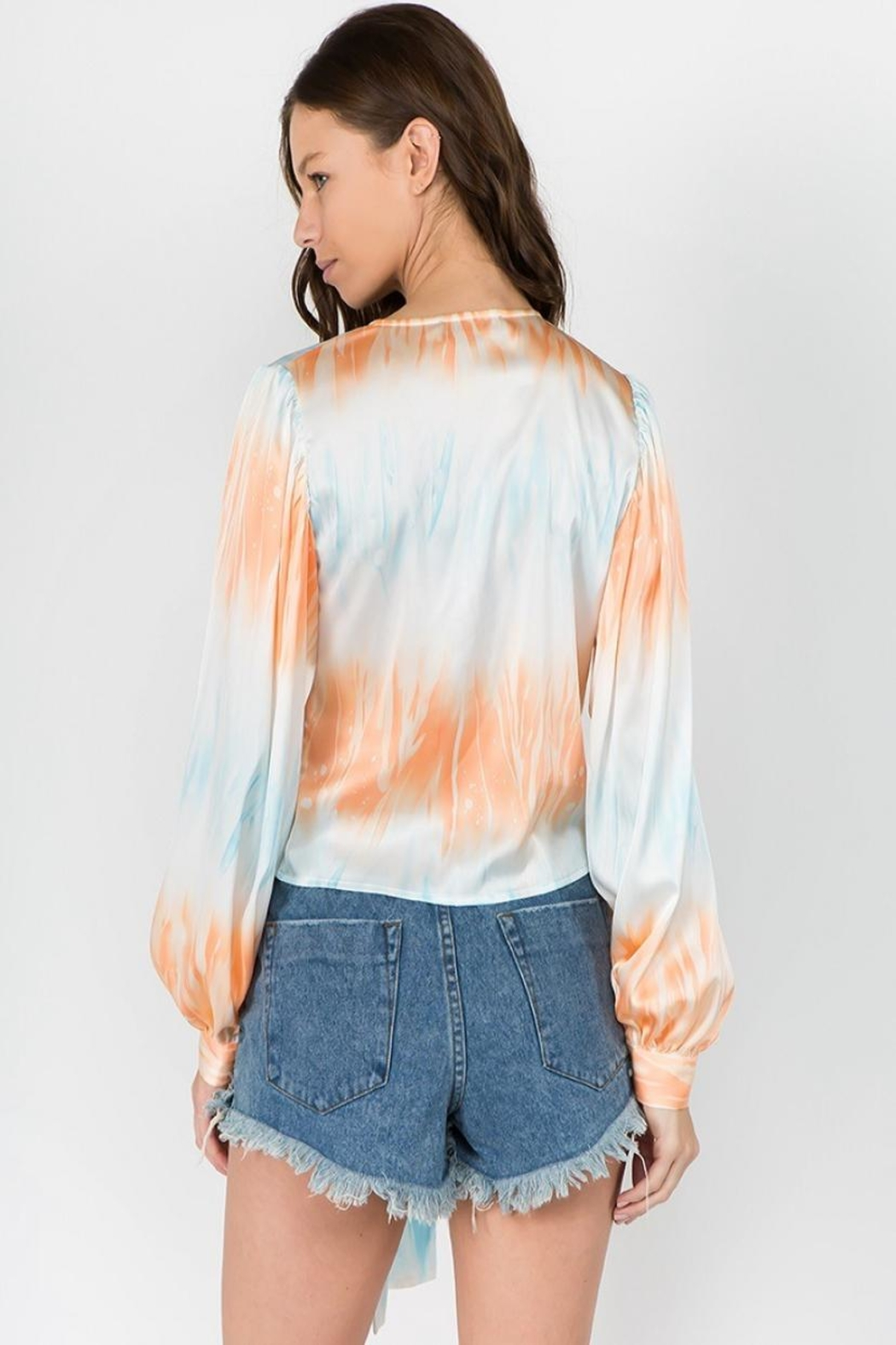 Signature 8 Tie Dye Top - Back Cropped Image
