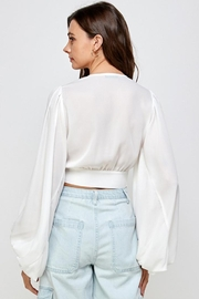 Signature 8 V-Neck Cropped Blouse - Front full body