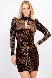 Signature 8 Velvet Leopard Dress - Product Mini Image