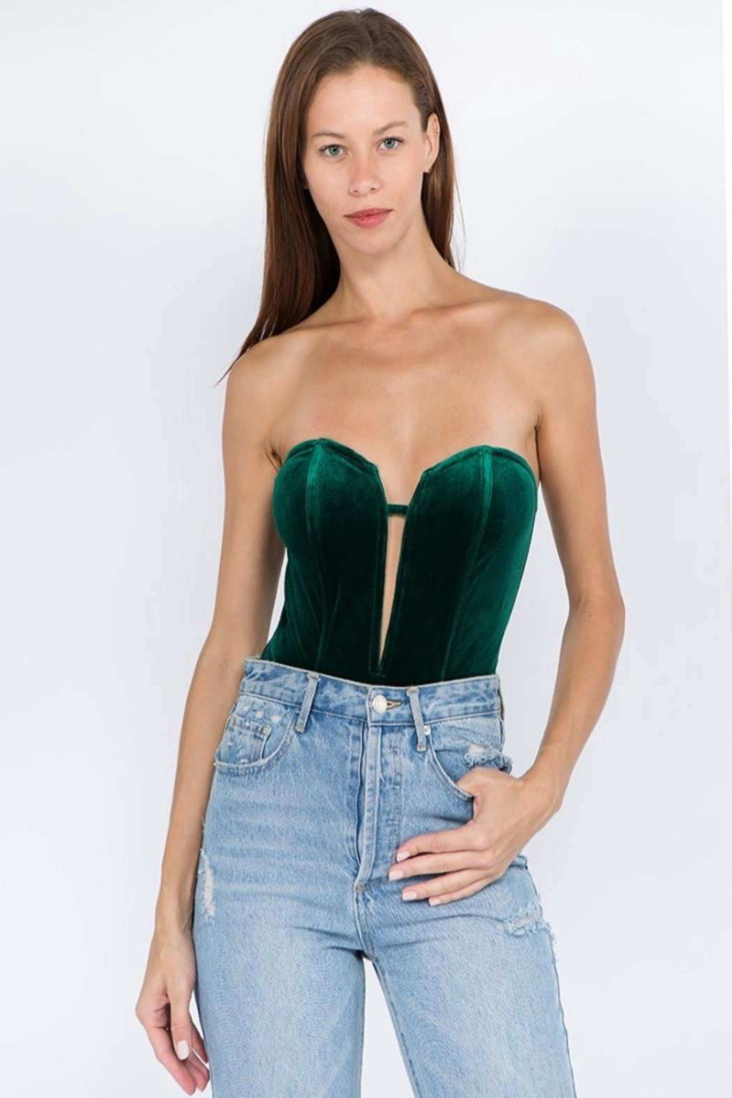 Signature 8 Velvet Tube Bodysuit - Main Image