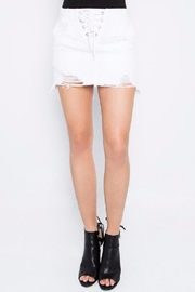 Signature 8 White Distressed Skirt - Product Mini Image