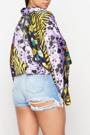 Signature 8 Zebra Floral Blouse - Side cropped