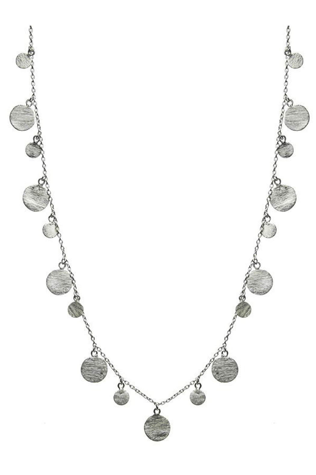 Sikara & Co. Art Deco Necklace with Brushed Discs - Main Image