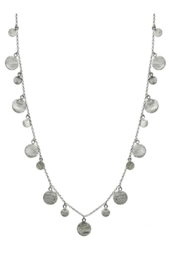 Sikara & Co. Art Deco Necklace with Brushed Discs - Product List Image
