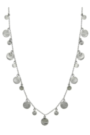Sikara & Co. Art Deco Necklace with Brushed Discs - Product Mini Image
