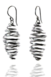 Sikara & Co. Battered Honey Comb Earrings - Front cropped