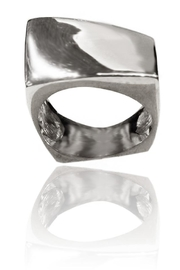 Sikara & Co. Bilbao Angular Rectangular Ring - Front cropped