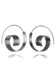 Sikara & Co. Bilbao Swirl Earrings - Front full body