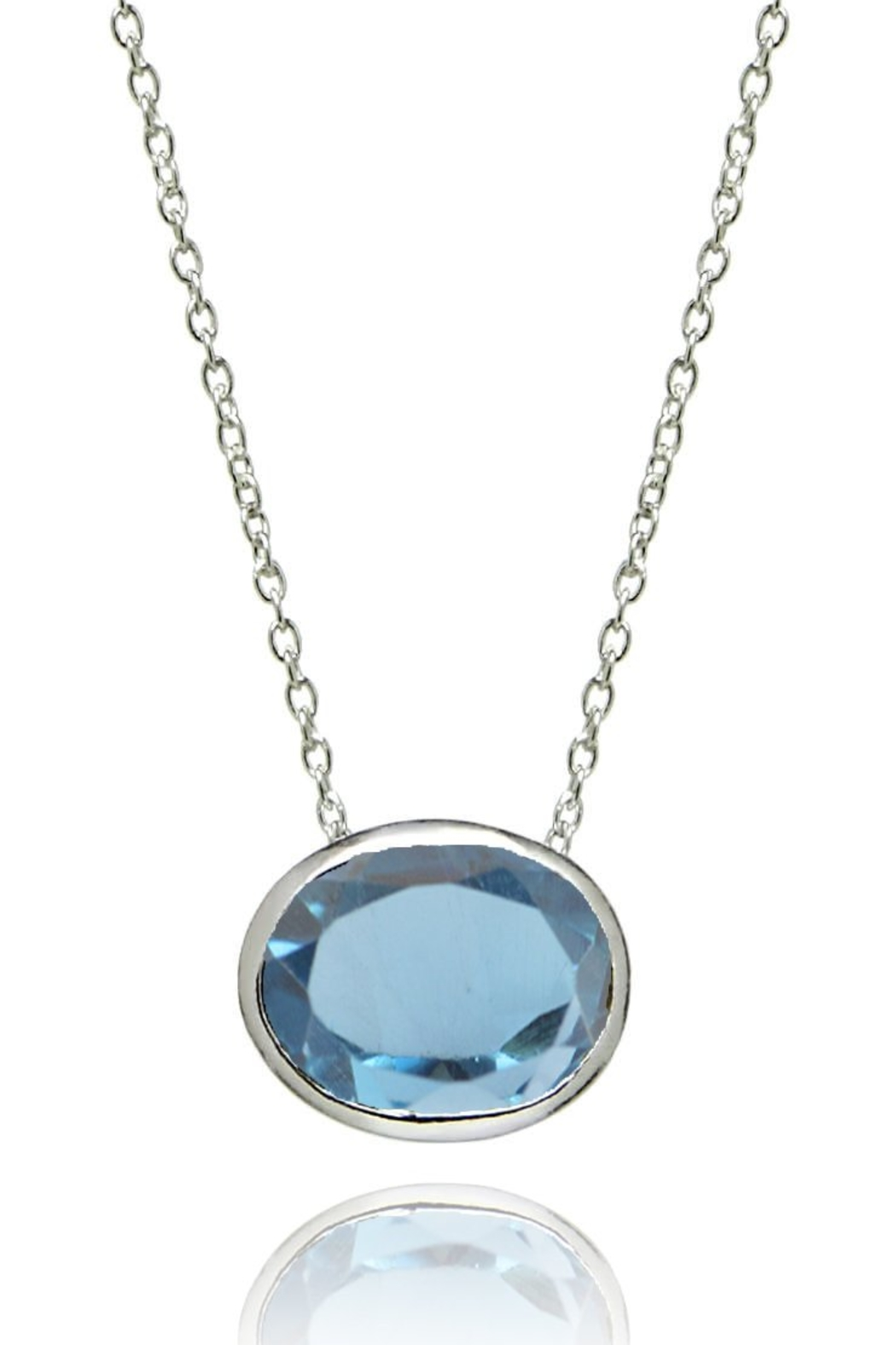 Sikara & Co. Floating Oval Pietra Necklace - Front Cropped Image