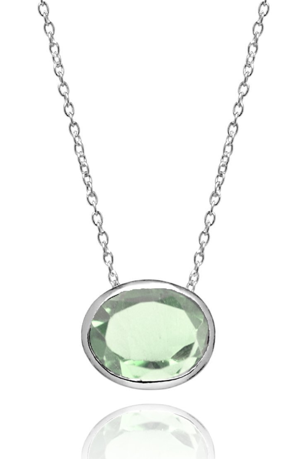 Sikara & Co. Floating Oval Pietra Necklace - Main Image
