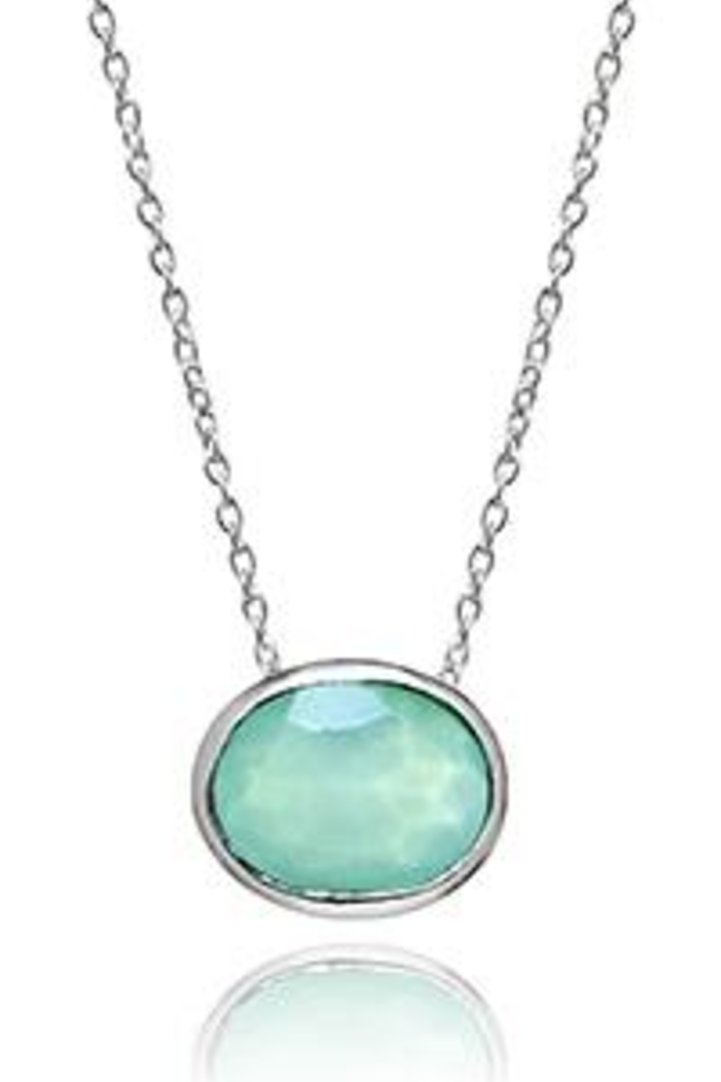 Sikara & Co. Floating Oval Pietra Necklace - Front Full Image