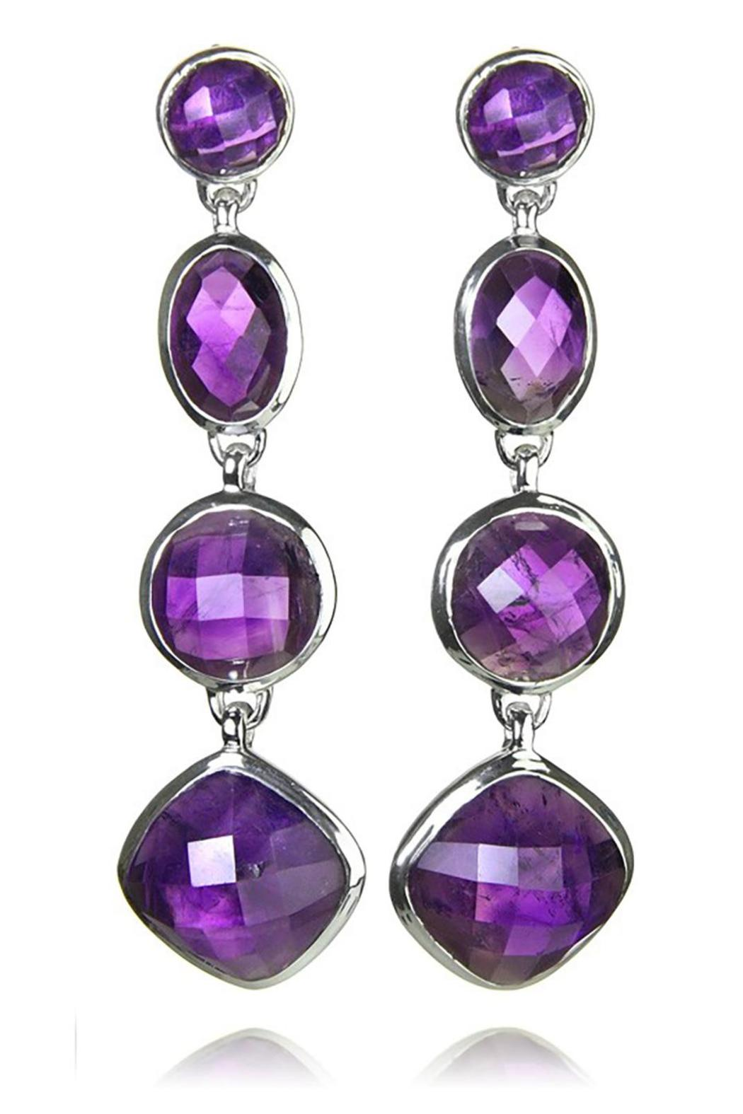 Sikara & Co. Geometric Amethyst Earrings - Main Image