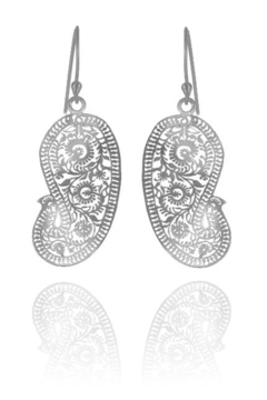 Sikara & Co. Matte Paisley Earrings (small) - Alternate List Image