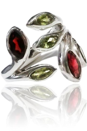 Sikara & Co. Multi Stone Leaf Ring - Product Mini Image