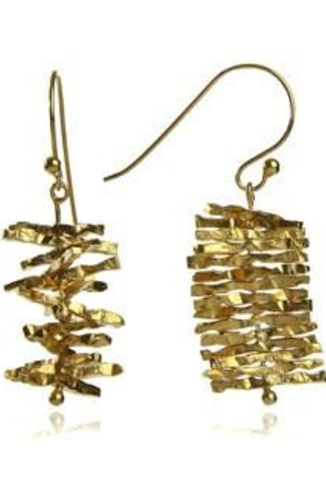 Sikara & Co. Nirvana Turning Twig Earrings - Front Cropped Image