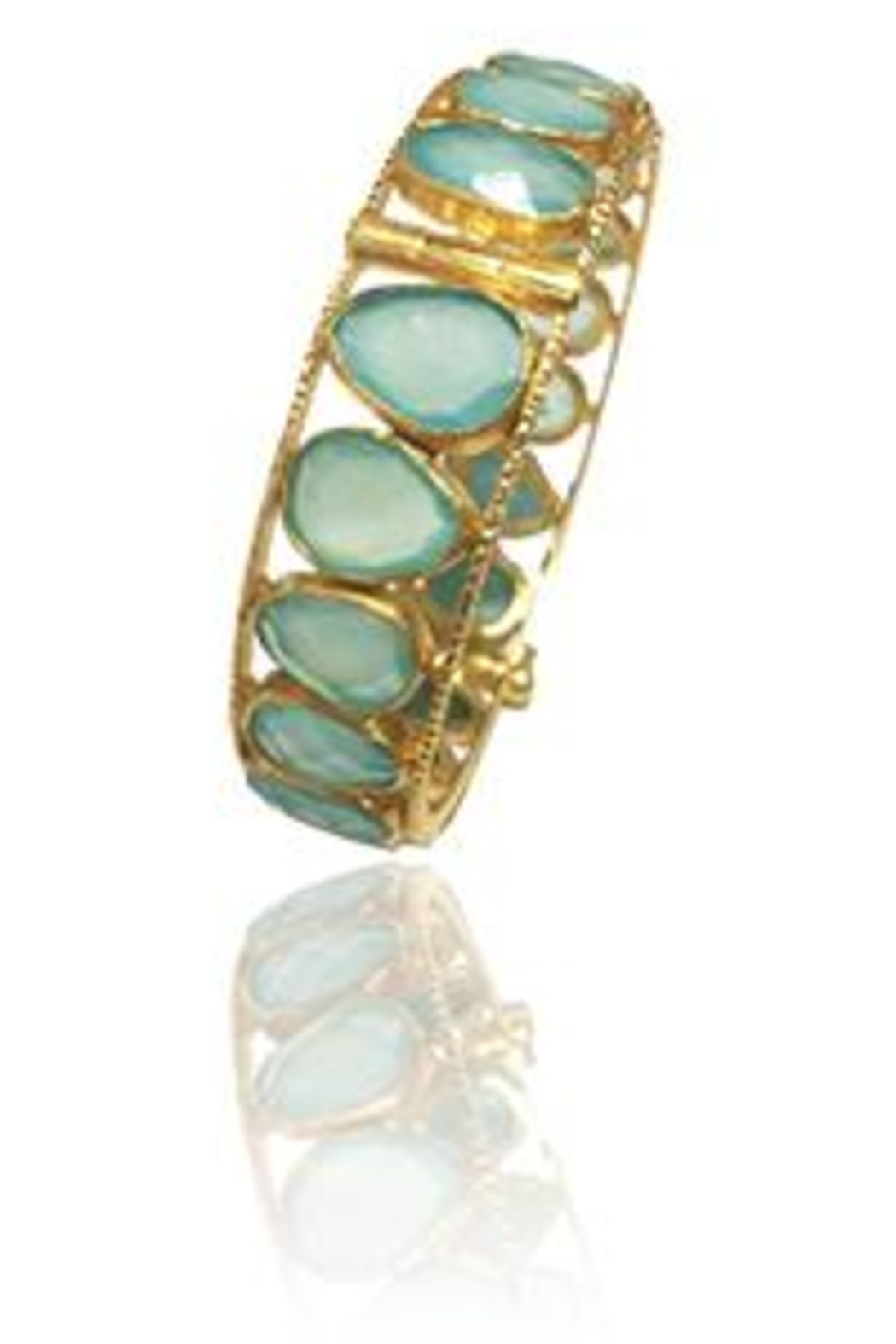 Sikara & Co. Peacock Bangle Aqua Chalcedony - Front Cropped Image