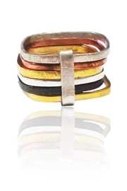 Sikara & Co. Six Multi Habimah Square Stacked Ring - Product Mini Image