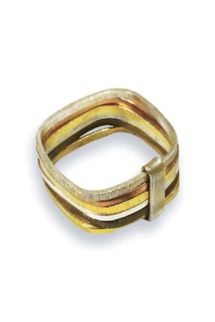 Sikara & Co. Six Multi Habimah Square Stacked Ring - Alternate List Image