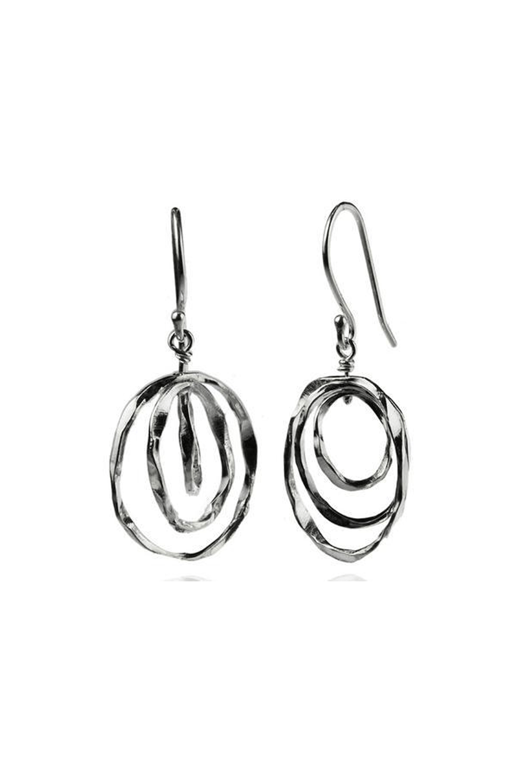 Sikara & Co. Thin Battered Concentric Earrings - Main Image