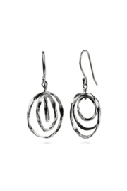Sikara & Co. Thin Battered Concentric Earrings - Product Mini Image