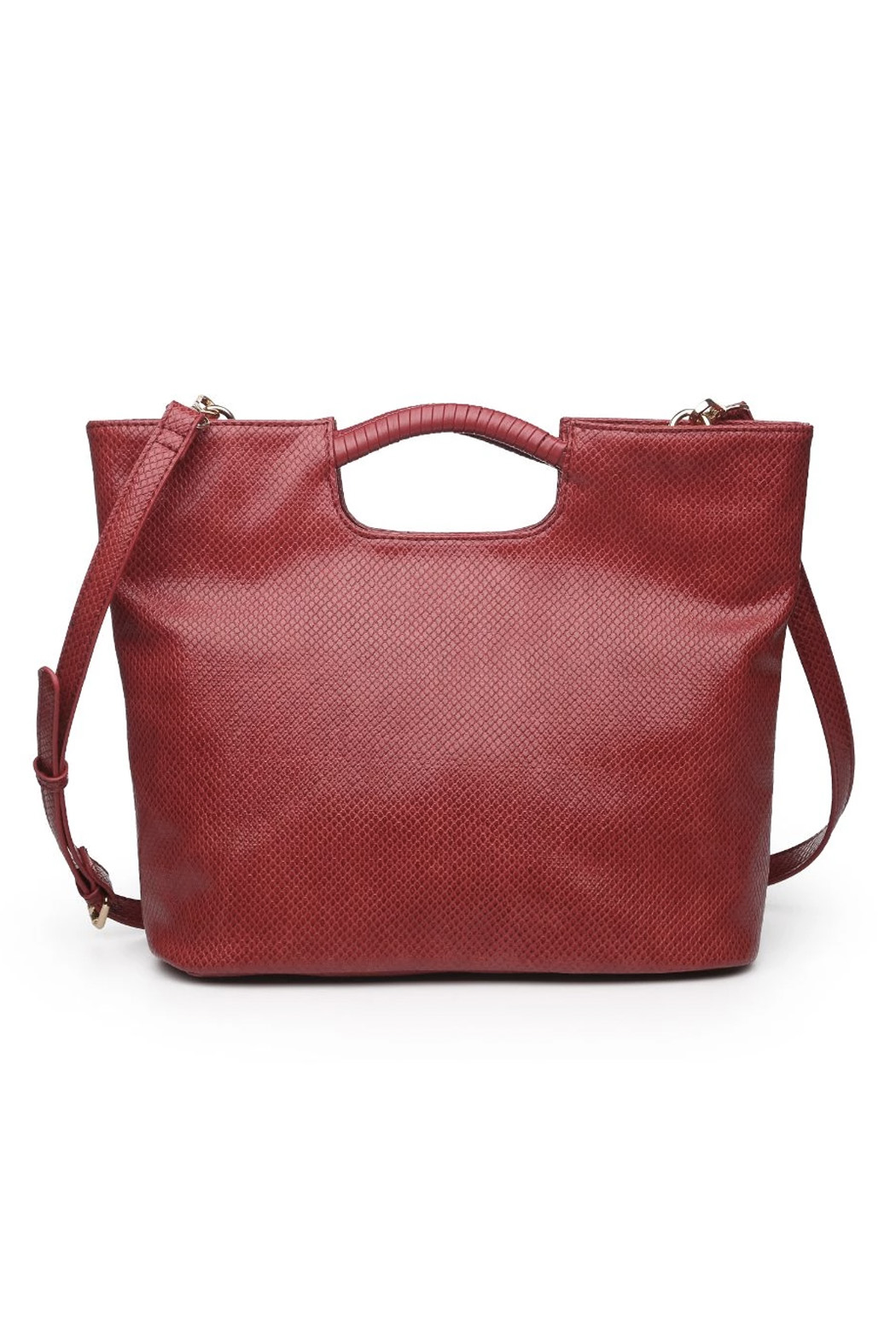 Urban Expressions Silas Vegan Leather Handbag - Back Cropped Image