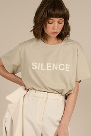 Molly Bracken Silence Knitted Tee - Product Mini Image