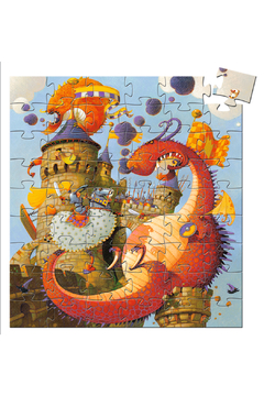 Djeco Silhouette 36 Piece Puzzle Vaillant and the Dragon - Alternate List Image