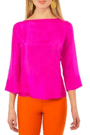 Gretchen Scott Silk Boat Neck Top - Front cropped