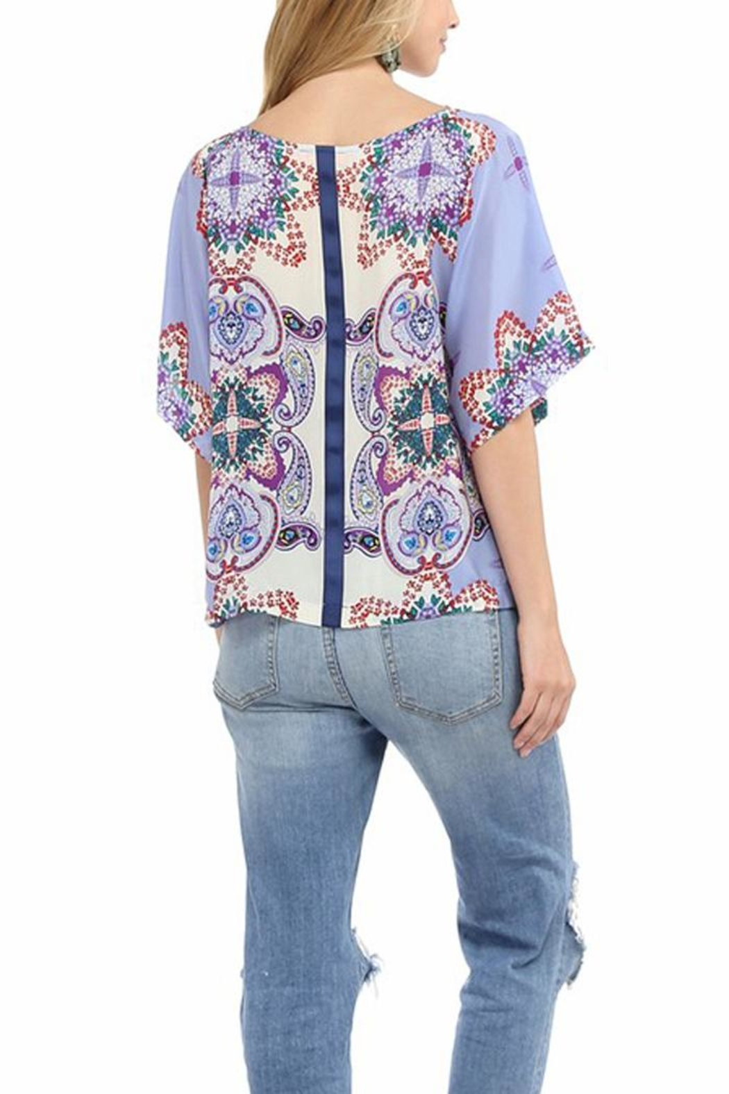 Glam Silk Boho Top - Front Full Image