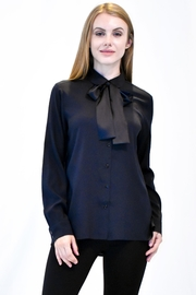 Max Volmary Silk Bow Blouse - Product Mini Image
