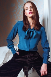 Sophie Cameron Davies Silk Bow Blouse - Product Mini Image