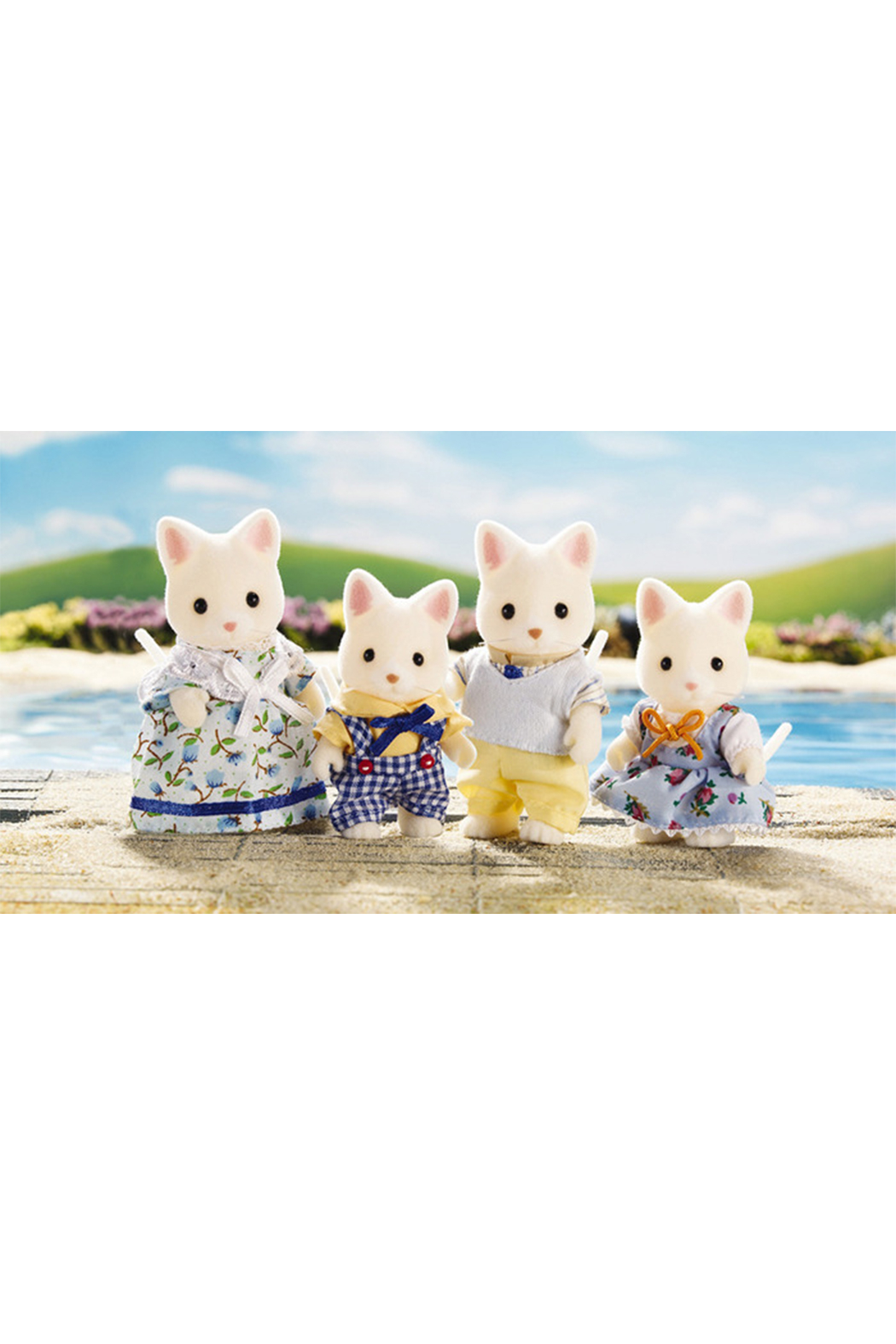 Calico Critters Silk Cat Family - Side Cropped Image