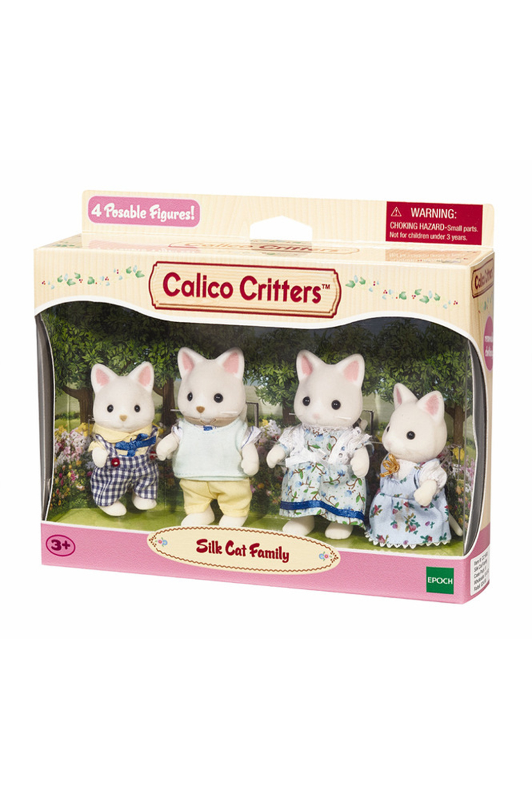 Calico Critters Silk Cat Family - Front Full Image