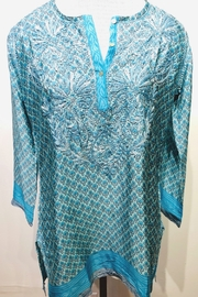 dolma Silk Embroidered Button-Down Tunic - Product Mini Image
