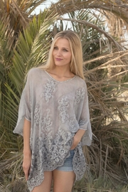 Gretty Zuegar Silk Embroidered Poncho - Product Mini Image