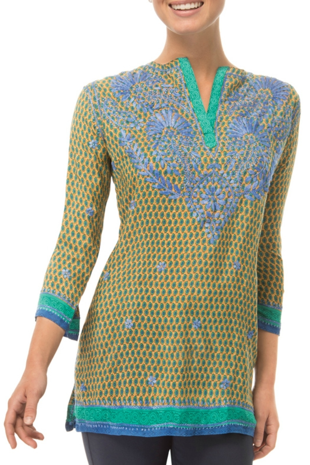 Gretchen Scott Silk Embroidered Tunic - Front Cropped Image