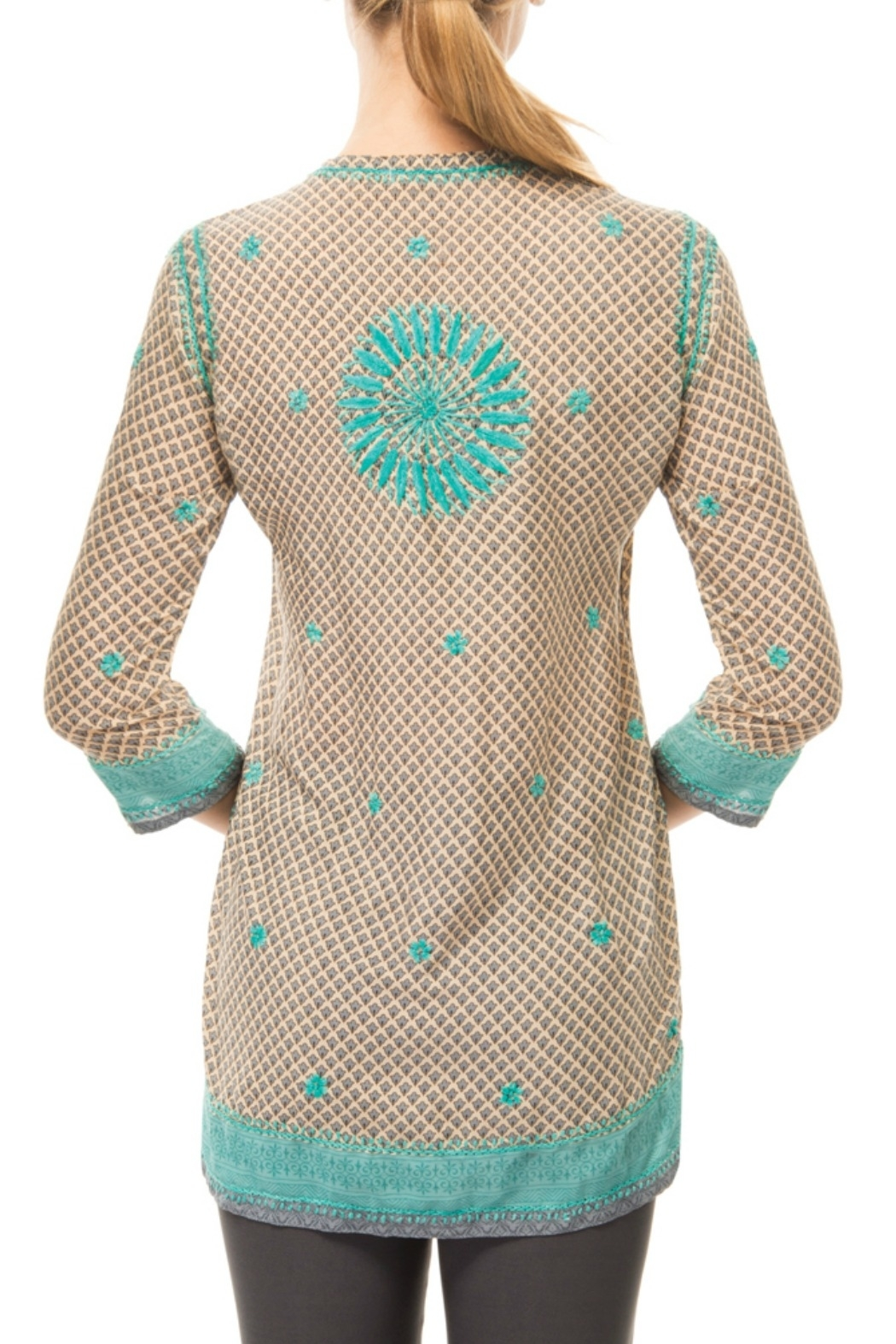 Gretchen Scott Silk Embroidered Tunic - Front Full Image